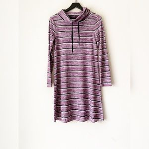 Market & Spruce Striped Purple Granita Knit Dress